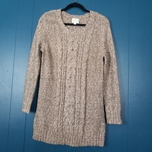 St. John's Bay gray cable knit sweater M